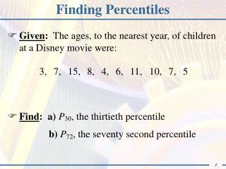 Finding Percentiles
