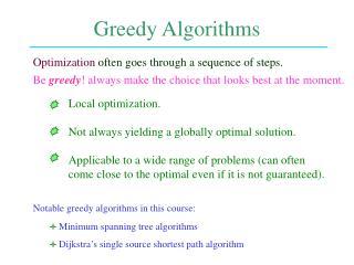 Greedy Algorithms