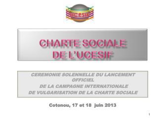 Charte sociale  de l'UCESIF
