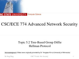 CSC/ECE  774 Advanced Network Security