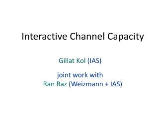 Interactive Channel Capacity