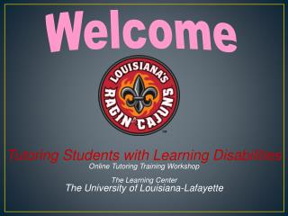 Tutoring  Students with Learning Disabilities Online Tutoring Training Workshop