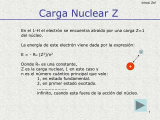Carga Nuclear Z