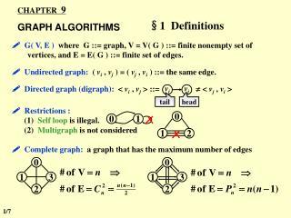 CHAPTER   9 GRAPH ALGORITHMS