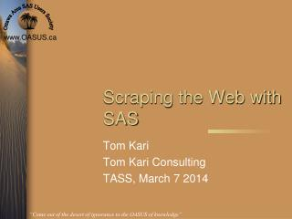 Scraping the Web with SAS