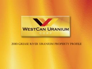 2010  Grease River Uranium Property  Profile