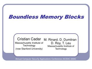Boundless Memory Blocks