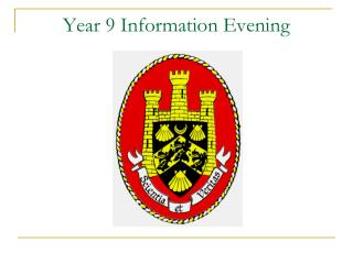 Year 9 Information Evening