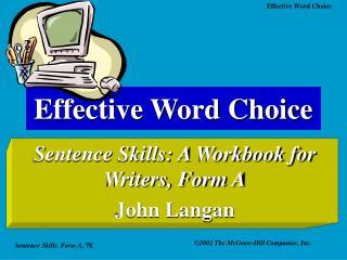 Effective Word Choice