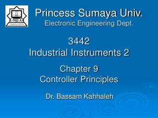 3442 Industrial Instruments 2 Chapter 9 Controller Principles