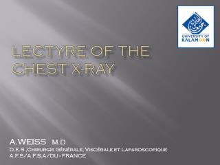 LECTYRE OF THE  CHEST X-RAY