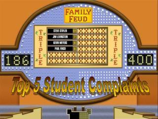 Top 5 Student Complaints