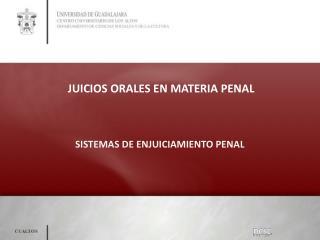 JUICIOS ORALES EN MATERIA PENAL