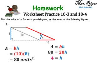 Worksheet Practice 10-3 and 10-4