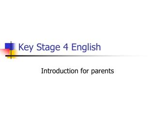 Key Stage 4 English