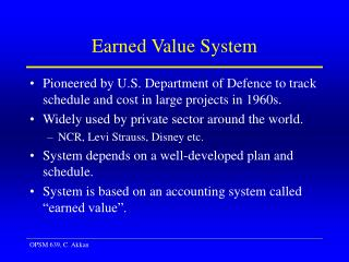Earned Value System