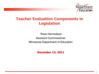 Teacher Evaluation Components in Legislation