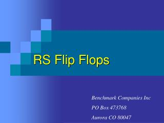 RS Flip Flops