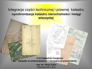 mgr inż. Alicja Kulka    Warszawa,23-25.11.2011r.