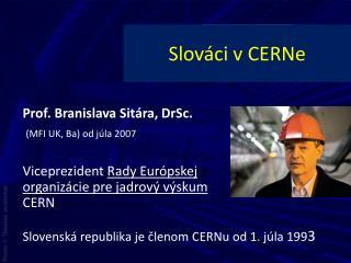 Slováci v  CERNe