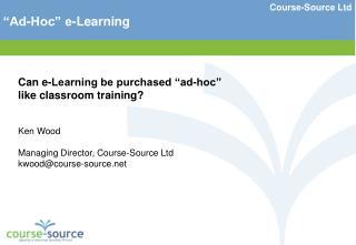 Course-Source Ltd