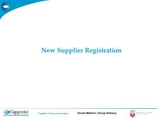 New Supplier Registration