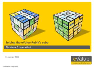 Solving the eValue Rubik�s cube