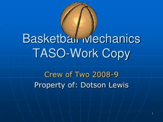 Basketball Mechanics TASO-Work Copy