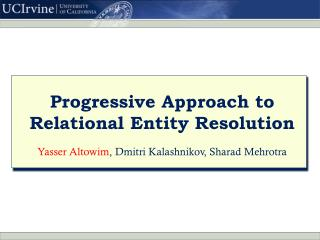 Progressive Approach to Relational Entity Resolution