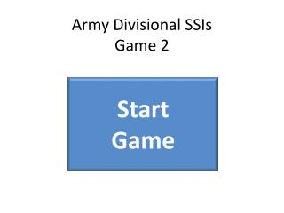 Army Divisional SSIs Game 2