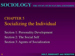 CHAPTER 5 Socializing the Individual