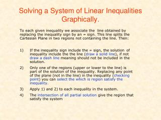 Solving a System of Linear Inequalities Graphically.