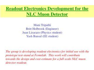 Readout Electronics Development for the NLC Muon Detector