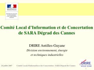 Comit  Local d Information et de Concertation de SARA D grad des Cannes