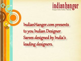 Buy Sarees online from Indian Hanger