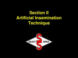 Section II Artificial Insemination Technique