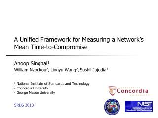 A Unified Framework for Measuring a Network's Mean Time-to-Compromise