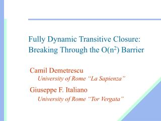 Fully Dynamic Transitive Closure: Breaking Through the O(n 2 ) Barrier