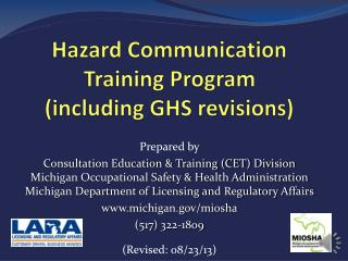 Hazard Communication Training Program (including GHS revisions)