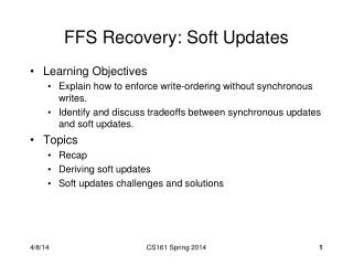 FFS Recovery: Soft Updates
