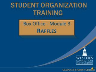 STUDENT Organization Training