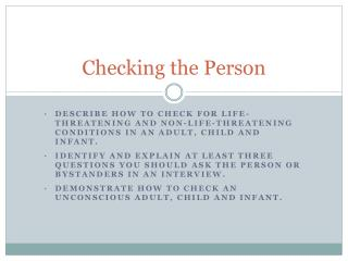 Checking the Person