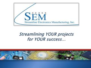 Streamlining YOUR projects  for YOUR success…