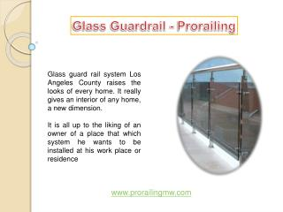 Glass Guardrail - Prorailing