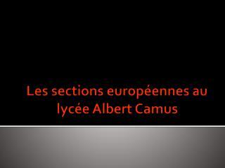 Les sections européennes au lycée Albert Camus