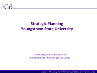 Strategic Planning Youngstown State University