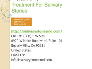 Treating Salivary Gland Infection
