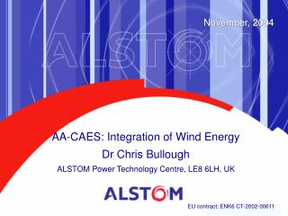 AA-CAES:  Integration of Wind Energy  Dr Chris Bullough