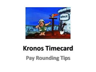 Kronos Timecard