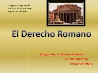 Integrantes : Guillermo Gonz lez           Antonio Montero     Constanza Peralta